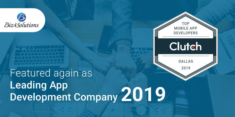 Biz4Solutions Shines on Clutch as Leading App Development Company 2019 in US