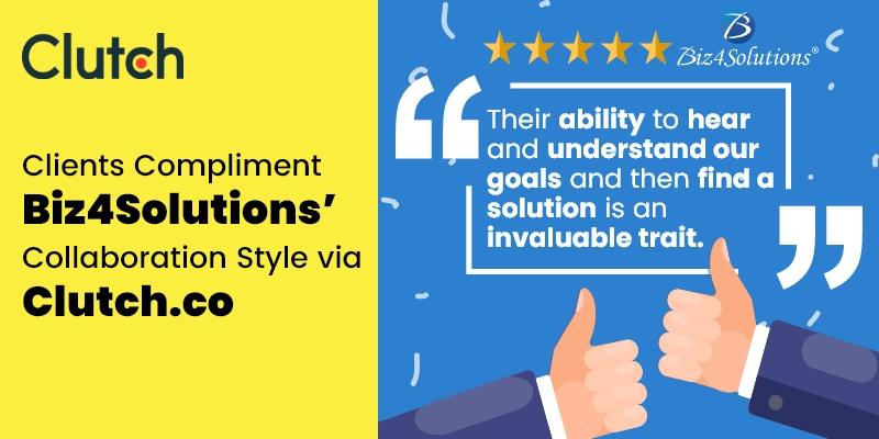 Clients Compliment Biz4Solutions' Collaboration Style via Clutch.co