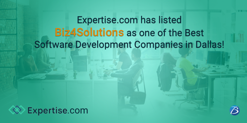 Biz4Solutions Again Tops the List of Best Software Development Firms in Dallas, on Expertise.com!